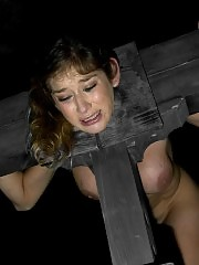 Felony, a bitch in heat, gets locked down in iron, then explodes with orgasms and squirting.