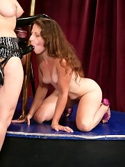 Two strippers battle over shifts at the local strip bar