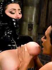 Princess Donna gets Sandra Romain's foot deep in her pussy